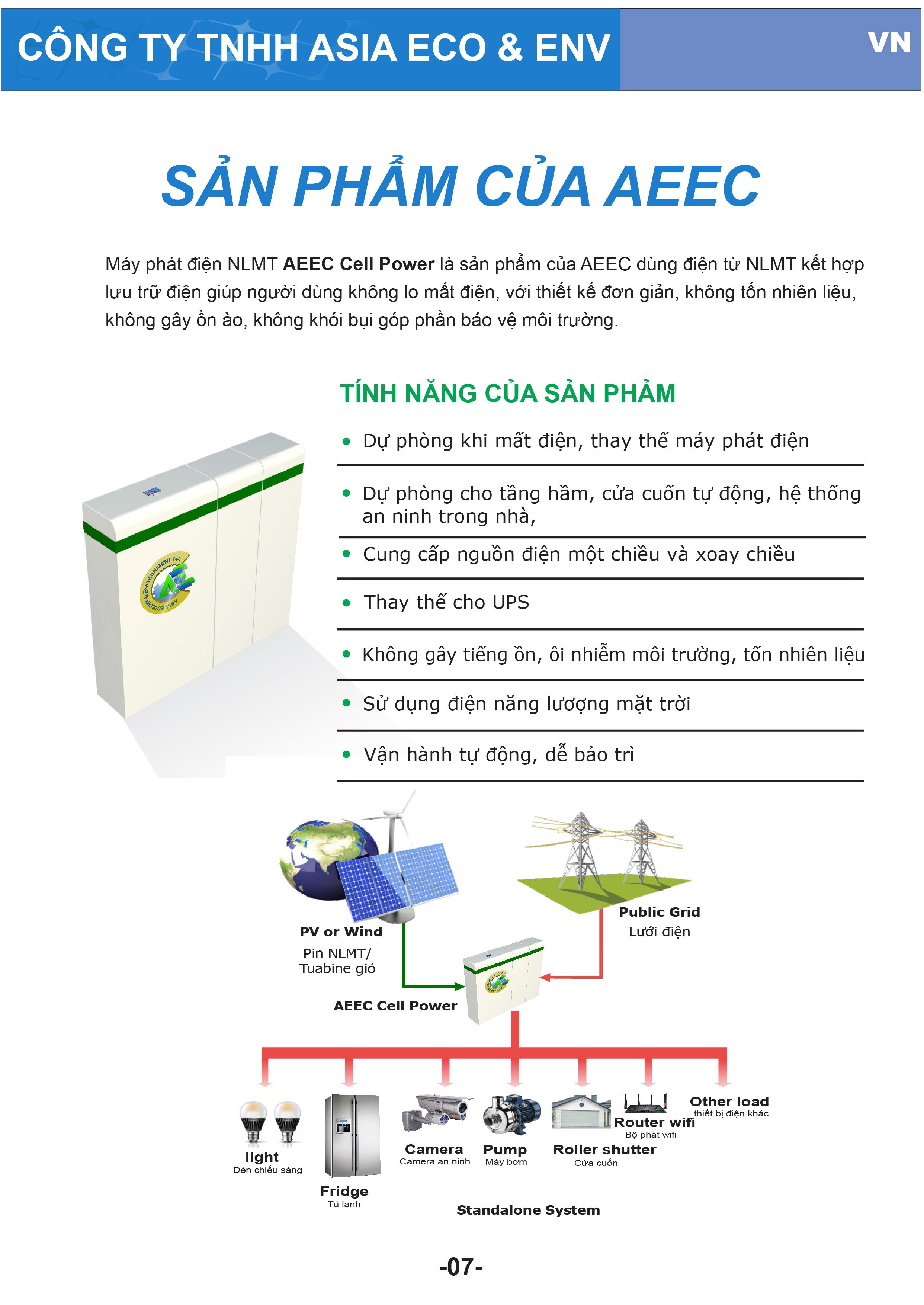 Các giải pháp năng lượng mặt trời